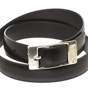 Louis Vuitton Accessories - Louis Vuitton Black Ceinture Mirage Belt 90 cm